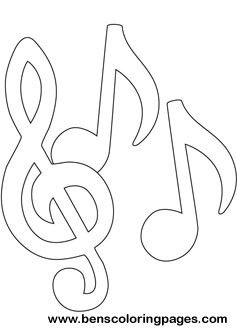music notes free coloring pages - Music Note Coloring Pages