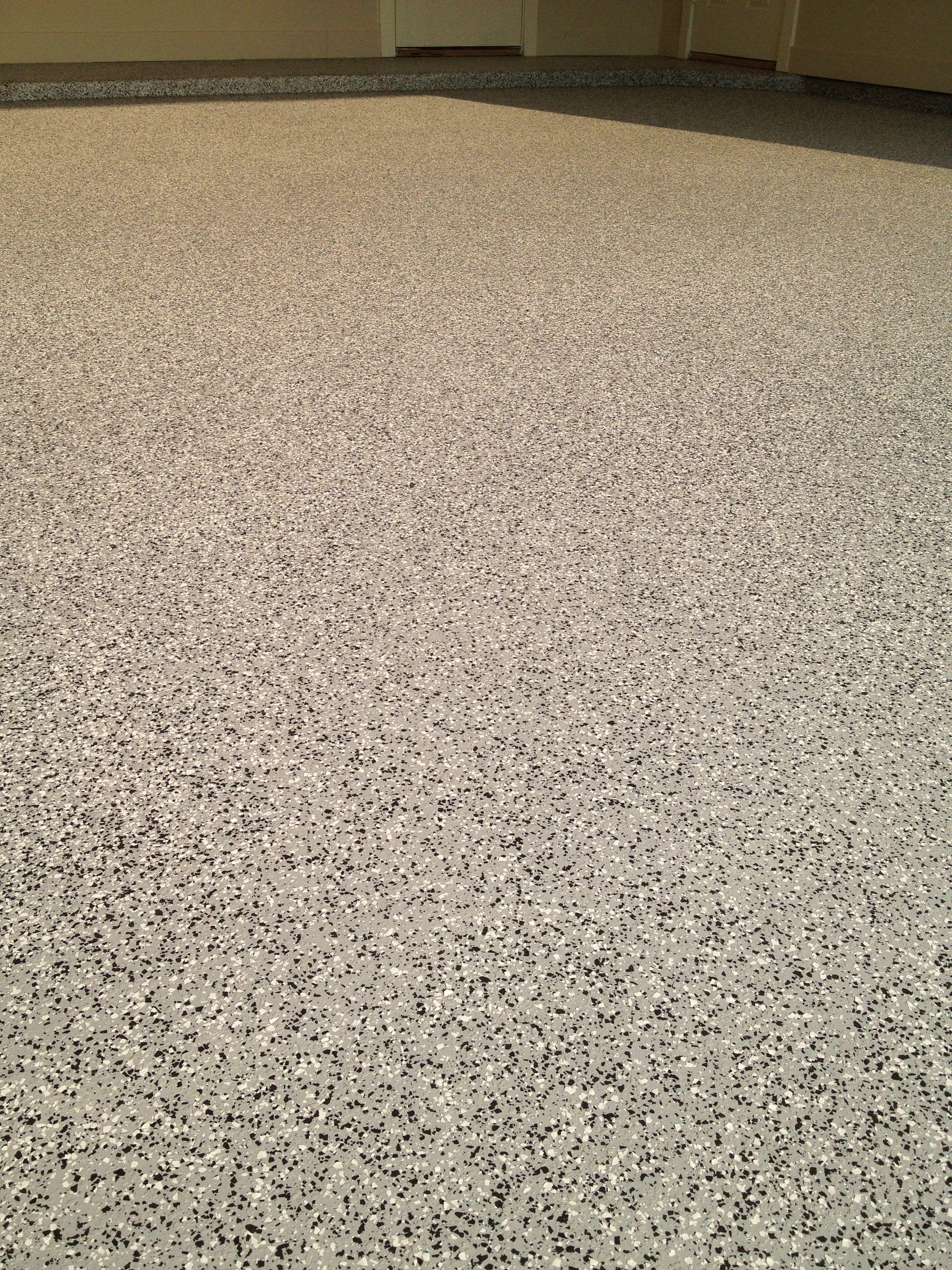1 4 Tuxedo Gray Black White Flake Blend Heavy Broadcast On