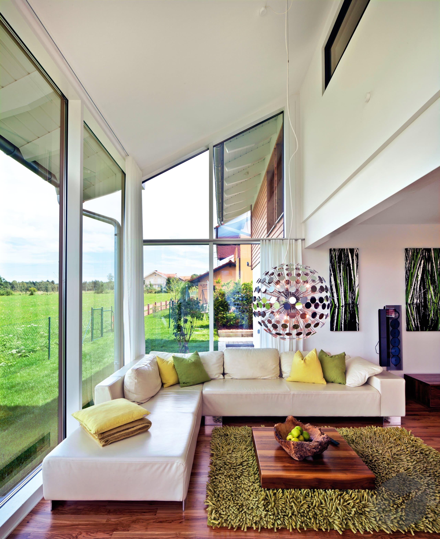 Wohnzimmer des modernen interieurs des hauses wohnzimmer inspiration von regnauer hausbau  alle infos zum haus