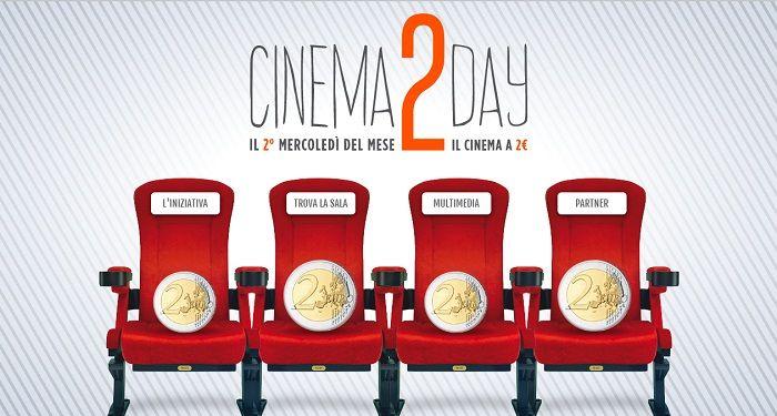 Cinema2Day il Biglietto del Cinema costa 2€