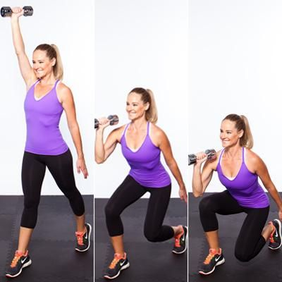Instead of: Arm Curls, Try This: Single-Arm Curl and Press