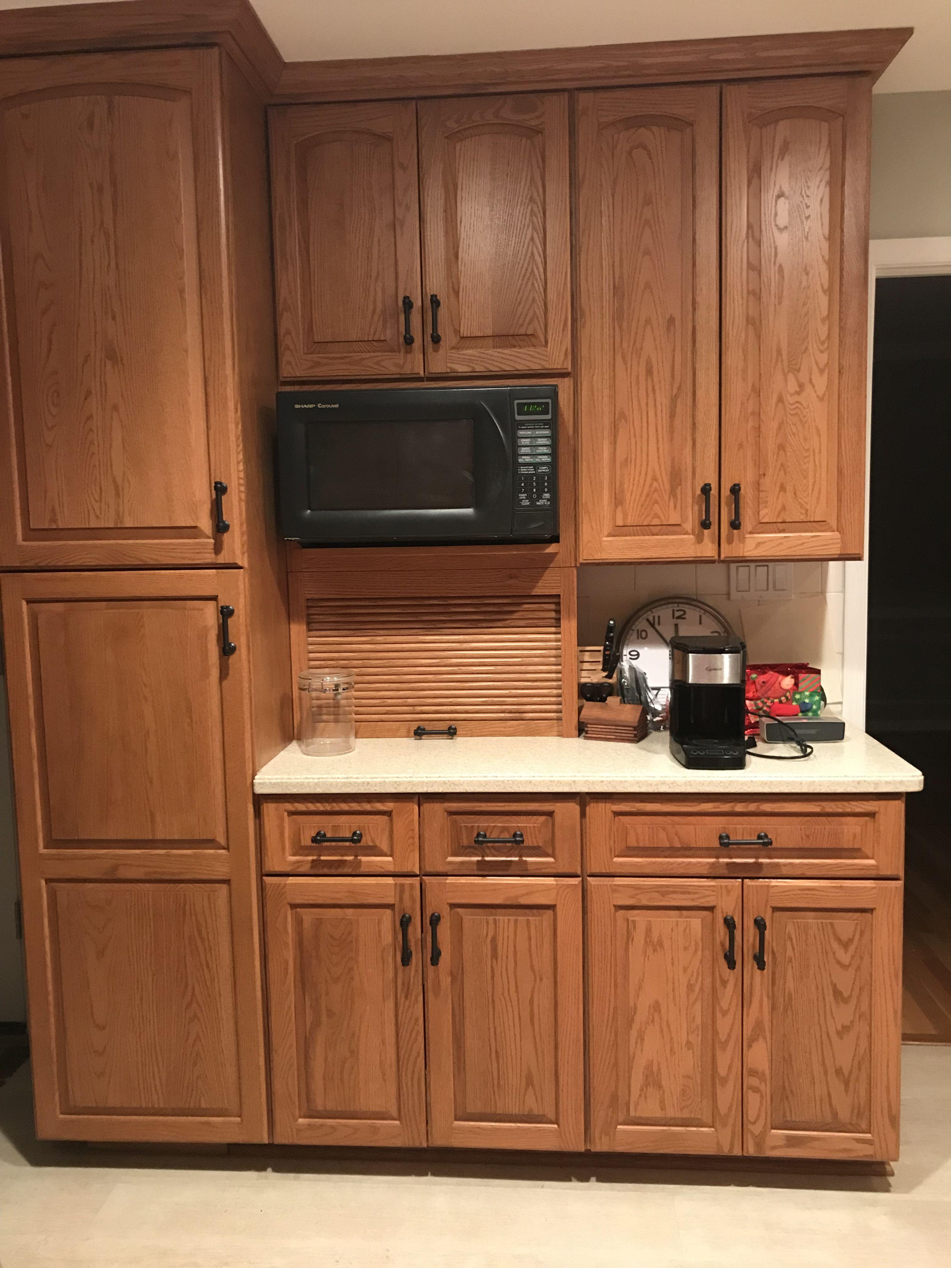 Oak Cabinets With Rh Lugarno Pulls Kitchen Design Interior Design Kitchen Oak Cabinets