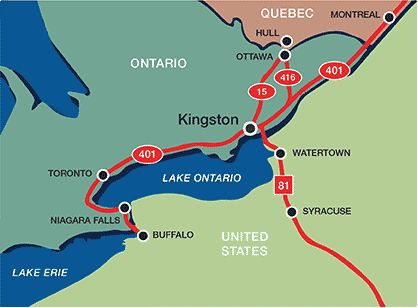 Kingston Canada Map Getting to Kingston, Canada | Visit Kingston | Travel Info