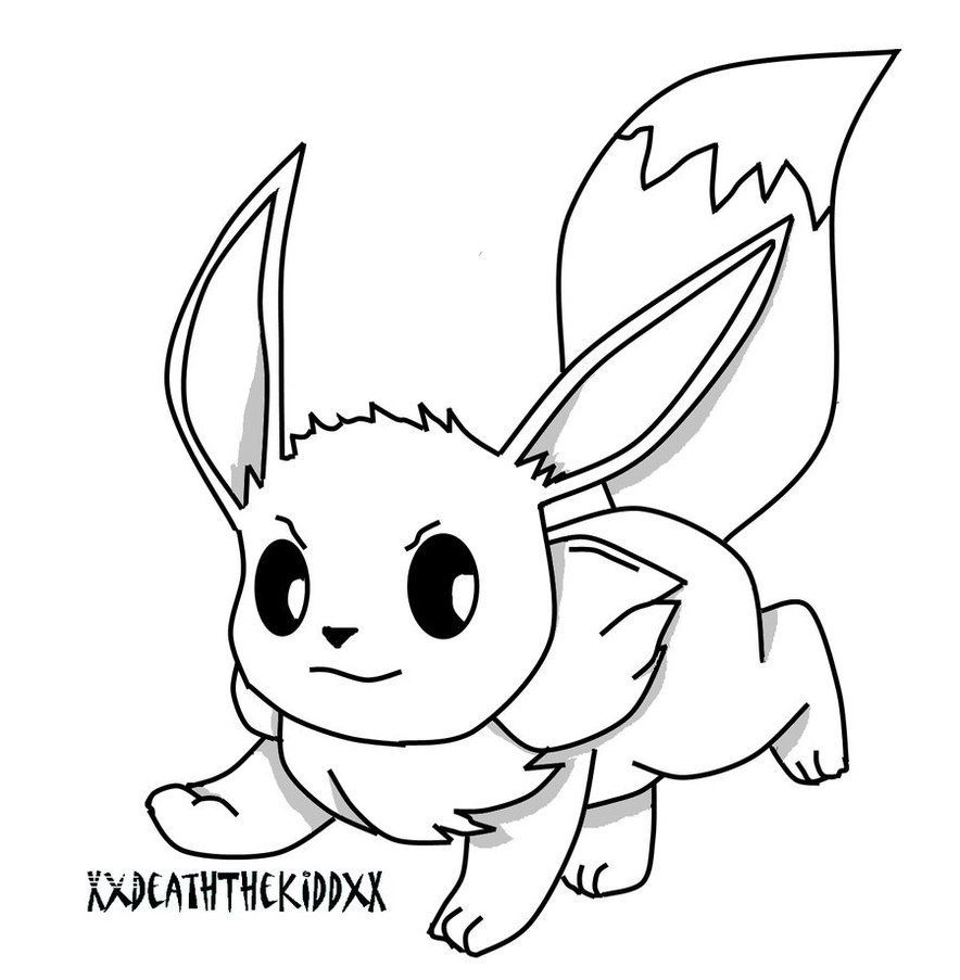 Pokemon Eevee Coloring Pages Pokemon Coloring Pikachu Coloring Page Pokemon Coloring Pages