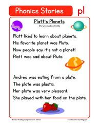 first grade reading comprehension worksheet phonics words stories
