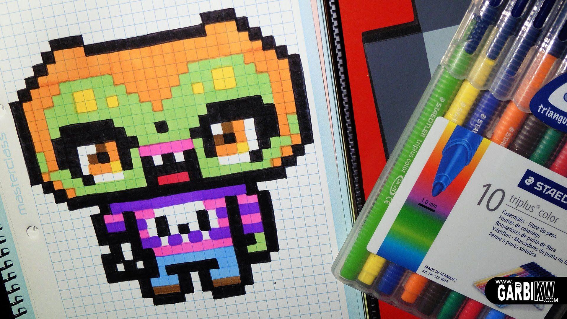 Handmade Pixel Art How To Draw A Kawaii Zombie By Garbi Kw