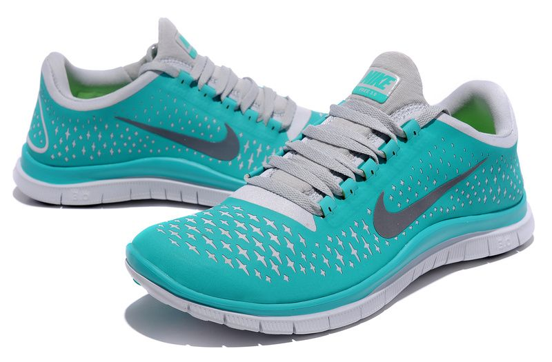 Cheap Nike Free 3 Men's Running Shoes New Green/Reflect Silver-Pure Platinum