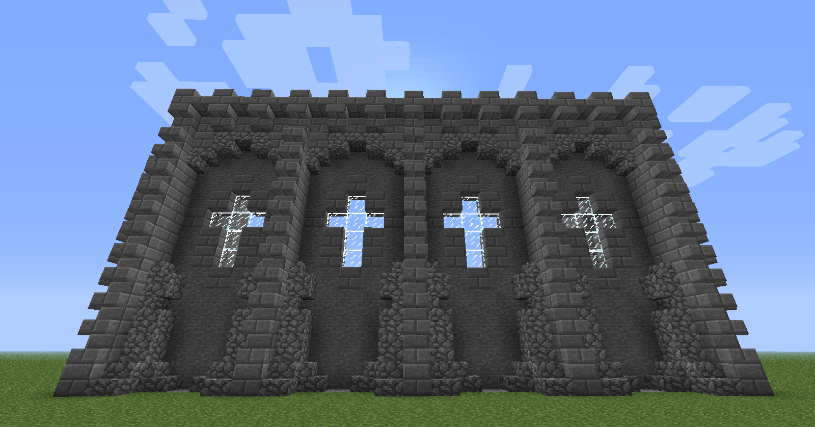Minecraft castle wall design minecraft seeds minecraft Design a castle online