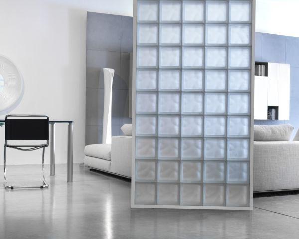 Vetrocemento Mattoni Trasparenti Glass Room Divider Portable Room Dividers