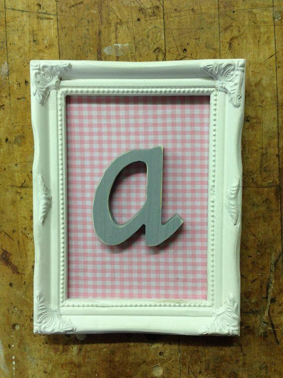Shabby Chic Nursery Letter Art by MissPaisleyPearl on Etsy | Shabby ...