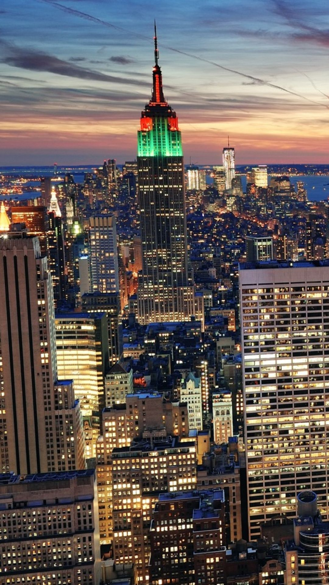 Download Wallpaper 1080x1920 New York City Top View Sony Xperia Z1 Zl Z Samsung Galaxy S4 Htc One Hd New York Wallpaper Chicago Wallpaper City Wallpaper