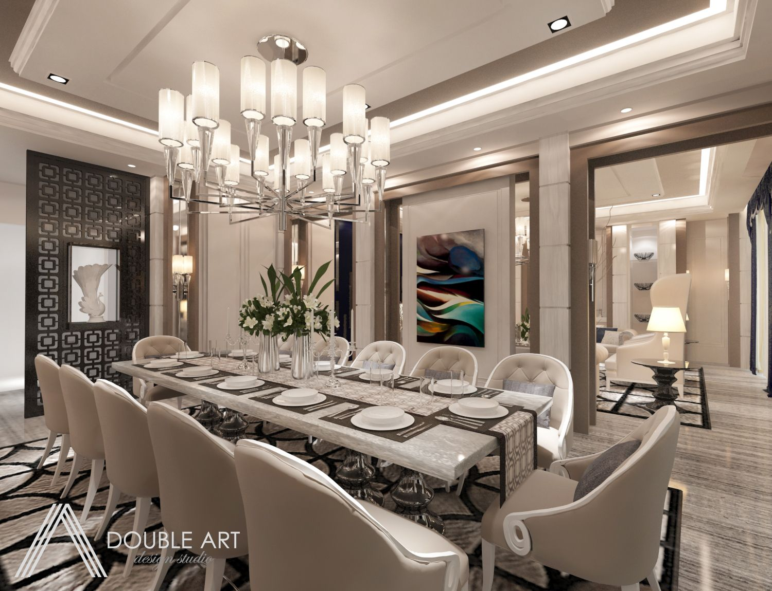 Bungalow In Ampang Hilir This Opulent Dining Room With