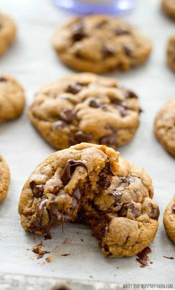 Thick And Chewy Coconut Oil Chocolate Chip Cookies Recipe Coconut Oil Chocolate Chip Cookies Healthy Chocolate Chip Cookies Chocolate Chip Cookies