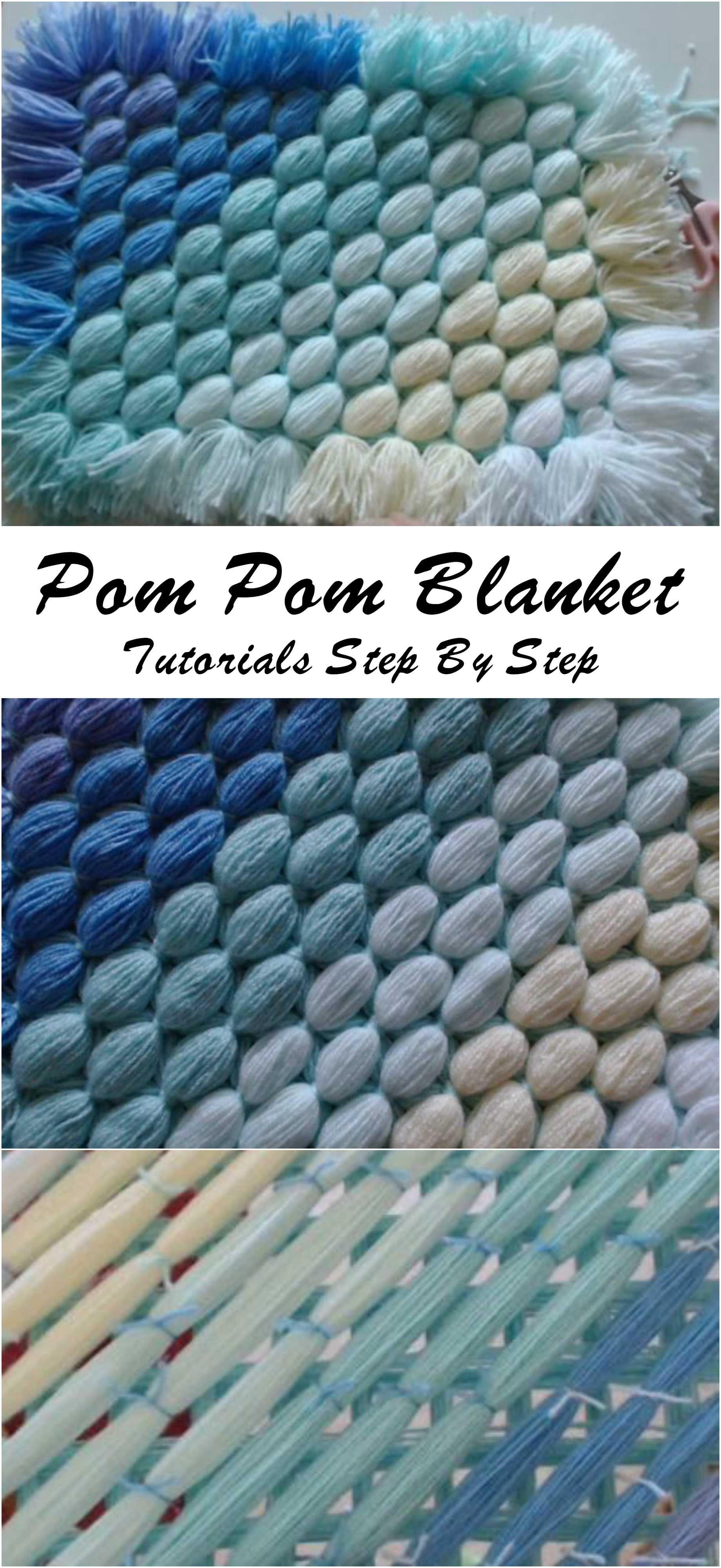 Pom Pom Blanket | Pompones, Deco y Tejido