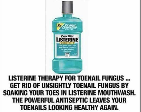 Toenail Fungus? Use this Cool Mint Listerine Mouthwash to help ...