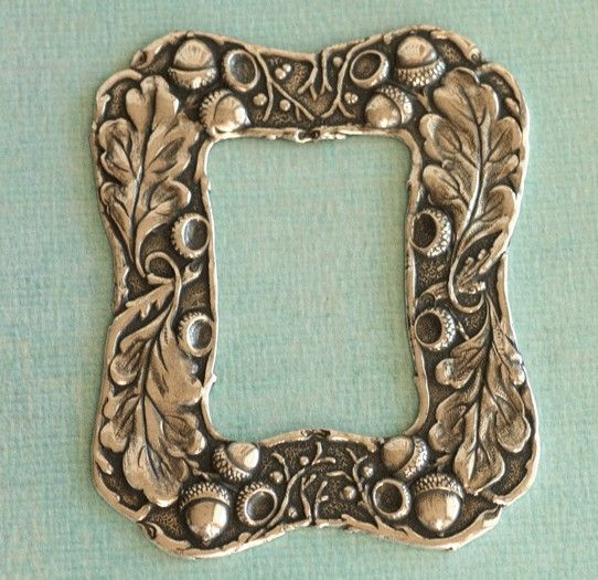 "Silver Oak Leaf and Acorn Frame 2387 - 4 1/2"" x 3 1/8""."