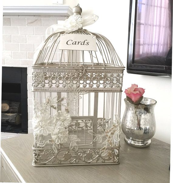 Birdcage Card Holder Elegant Money Box Wedding Birdcage Card Holder Wish Box Money Box Card Box Wedding Gift Card Box Money Box Wedding Wedding Birdcage