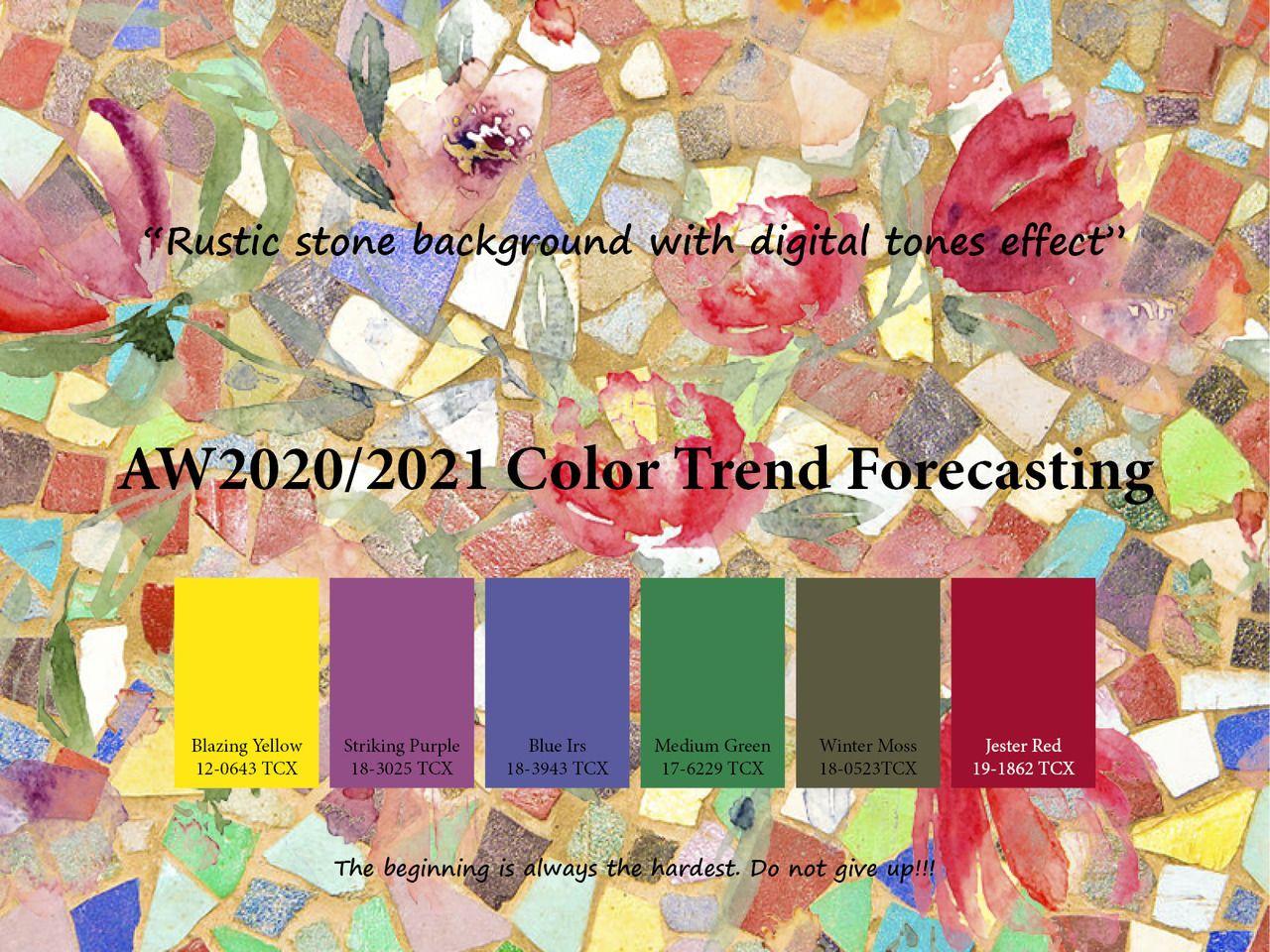 AW5/5 Trend forecasting - Rustic stone background with