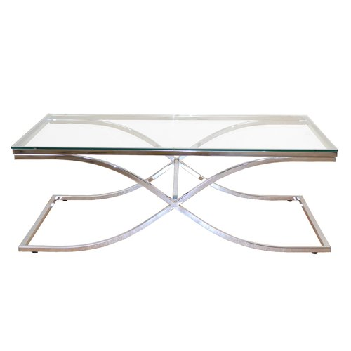 Austin Coffee Table Canora Grey Frame Colour Powder Coated White