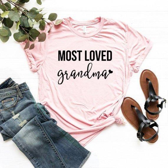 Most Loved Grandma Shirt Tshirt Tee T New Gift Grandm