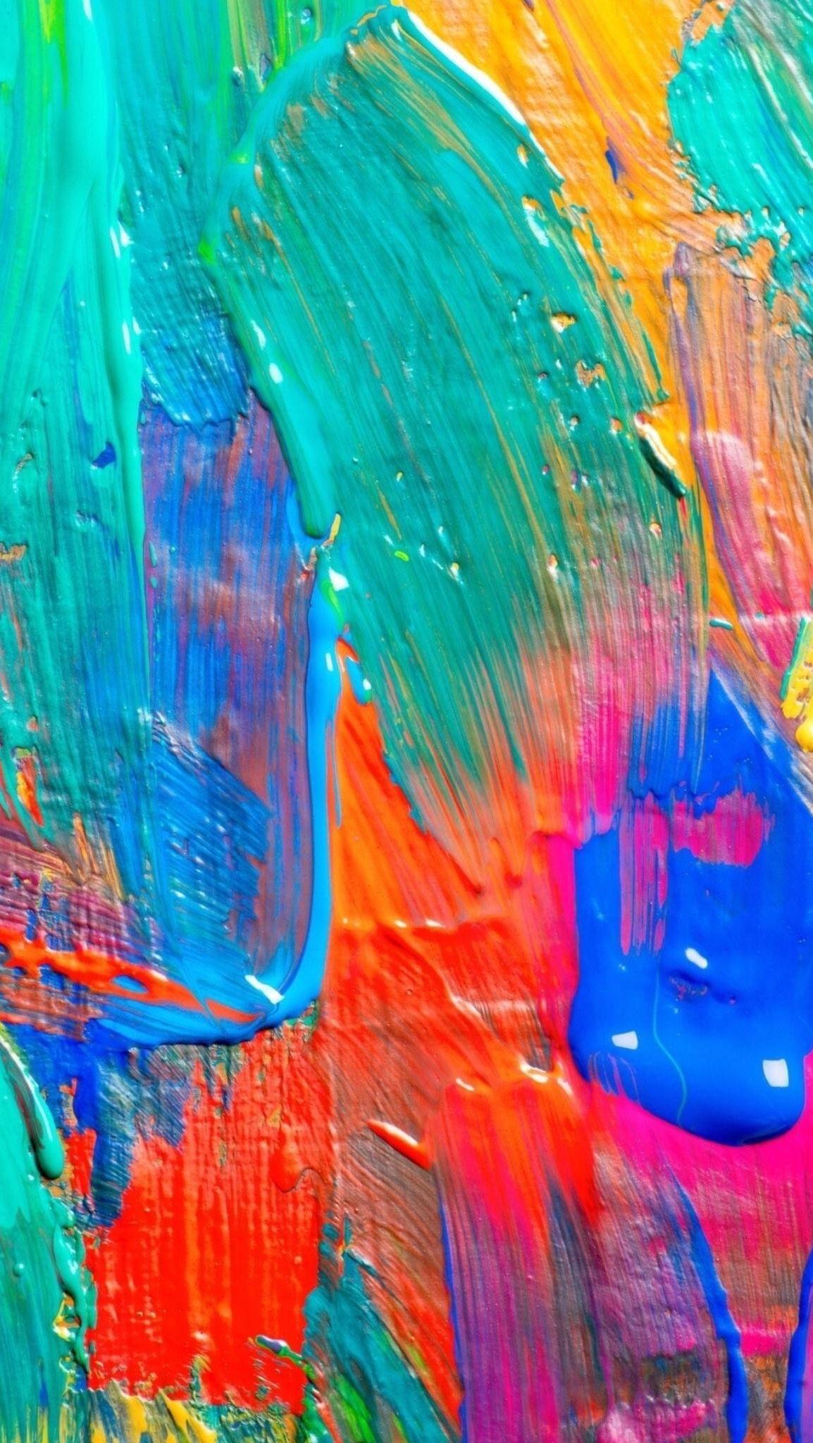 HD iPhone wallpaper Painting/brush strokes | Wallpapers in 2019 | Iphone wallpaper texture ...