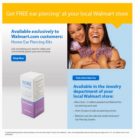 Walmart Printable Coupons Free Ear Piercing With Purchase Of Ear