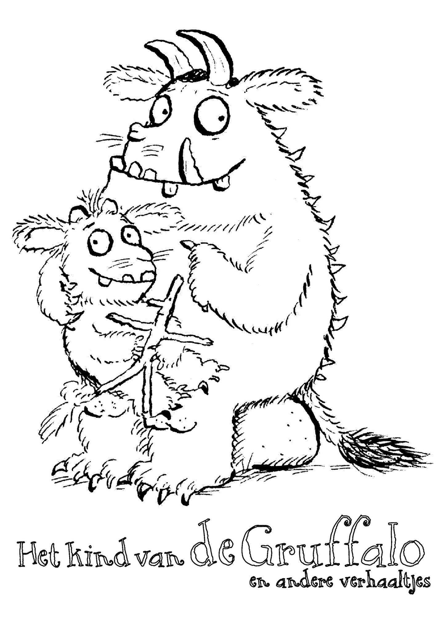 The gruffalo colouring pages to print - Gruffalo Kleurplaten