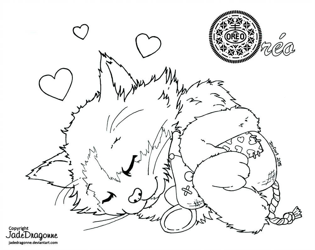Oreo Lineart By Https Www Deviantart Com Jadedragonne On