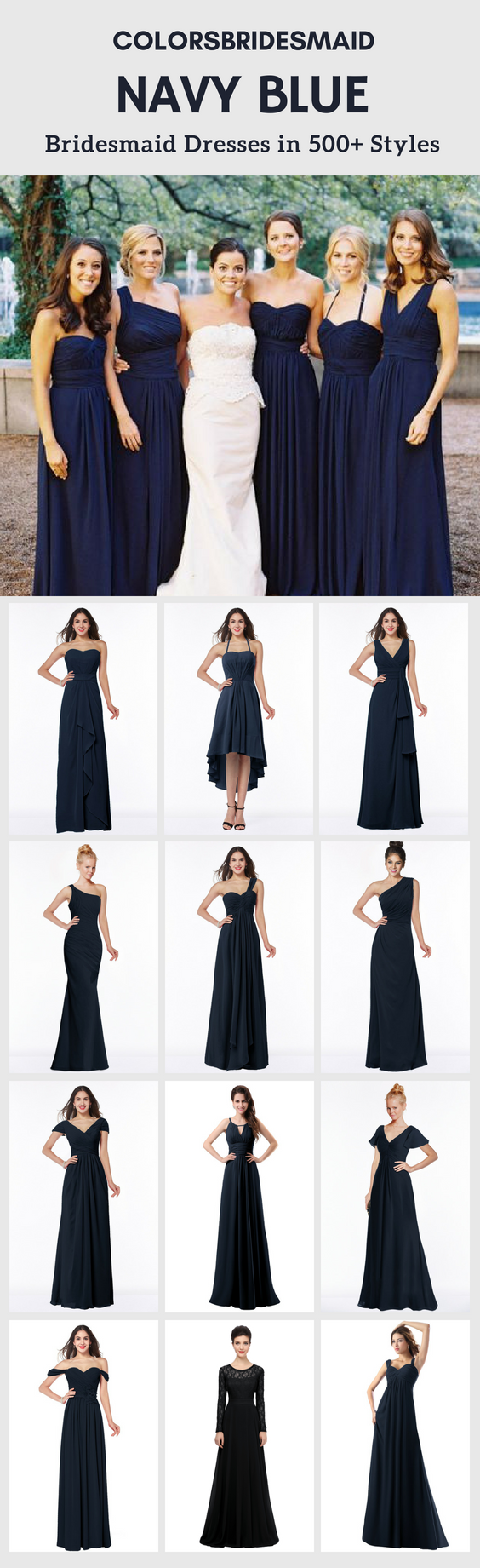 Navy blue bridesmaid dresses in blue bridesmaid dresses