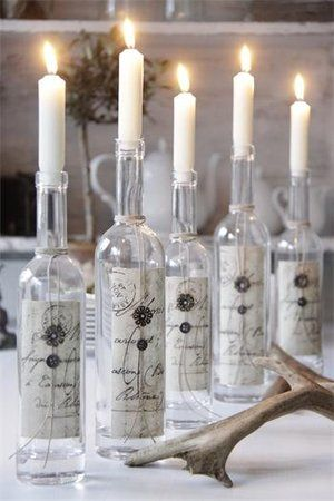 candles in reused bottles - Jeanne du0027Arc Living creatividad