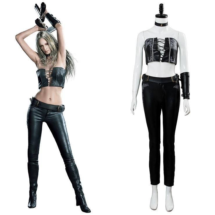Devil May Cry 5 Trish Gloria Cosplay Costume Women Full Suit Outfit