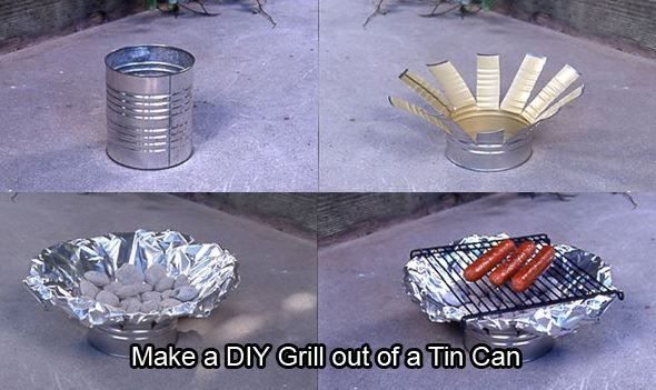 Prepared For Survival: DIY Grill Out Of A Tin Can!