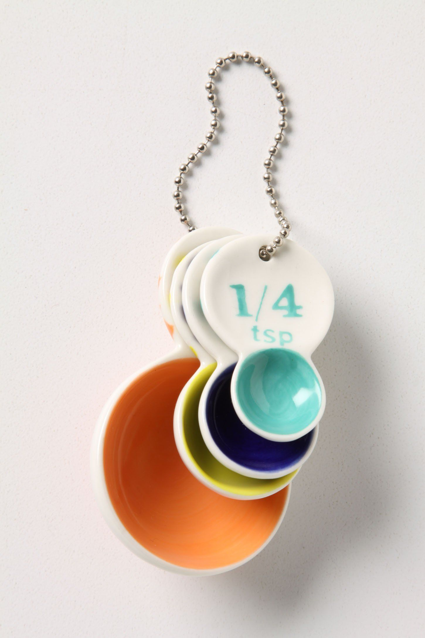 Colorful Spoons: Color Tab Measuring Spoons