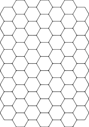 Teselado con Hexágonos Dibujo para colorear. Categorías: Mosaicos ...