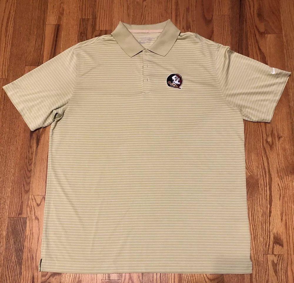7e27d2b8 Nike Golf Tour Performance Polo Shirt FSU Mens Gold Striped Dri Fit Florida  #fashion #clothing #shoes #accessories #mensclothing #shirts (ebay link)