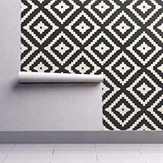 Amazon Com Peel And Stick Wallpaper Black And White Geometric Aztec Wallpaper Peel And Stick Wallpaper Self Adhesive Wallpaper