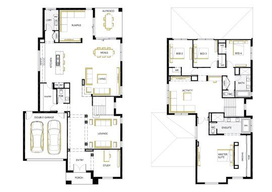 Floorplan two storey house plans australia steel building also rh ar pinterest