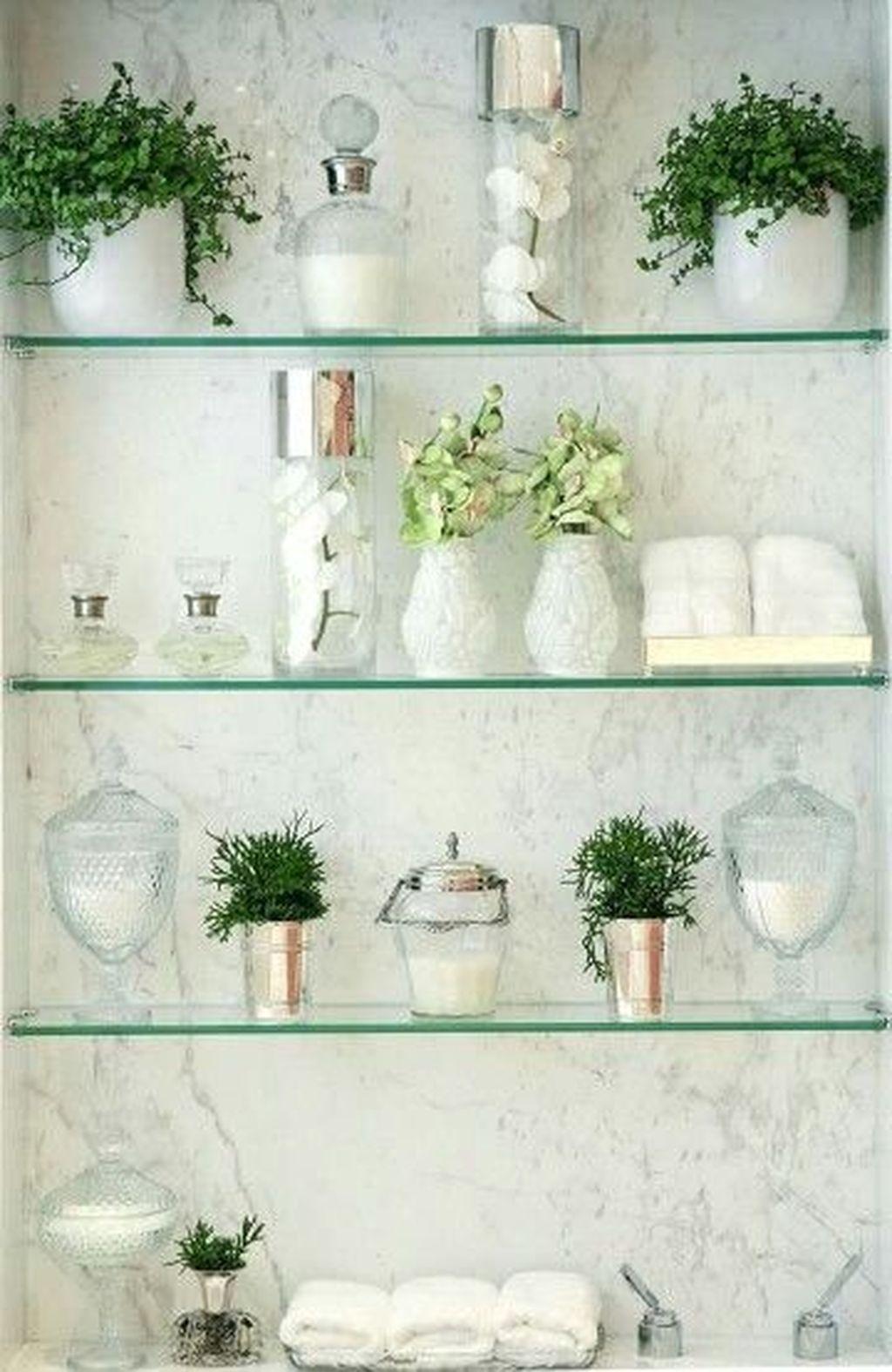 40 The Best Bathroom Glass Shelves Design Ideas Glass Shelves Decor Glass Bathroom Glass Shelves In Bathroom