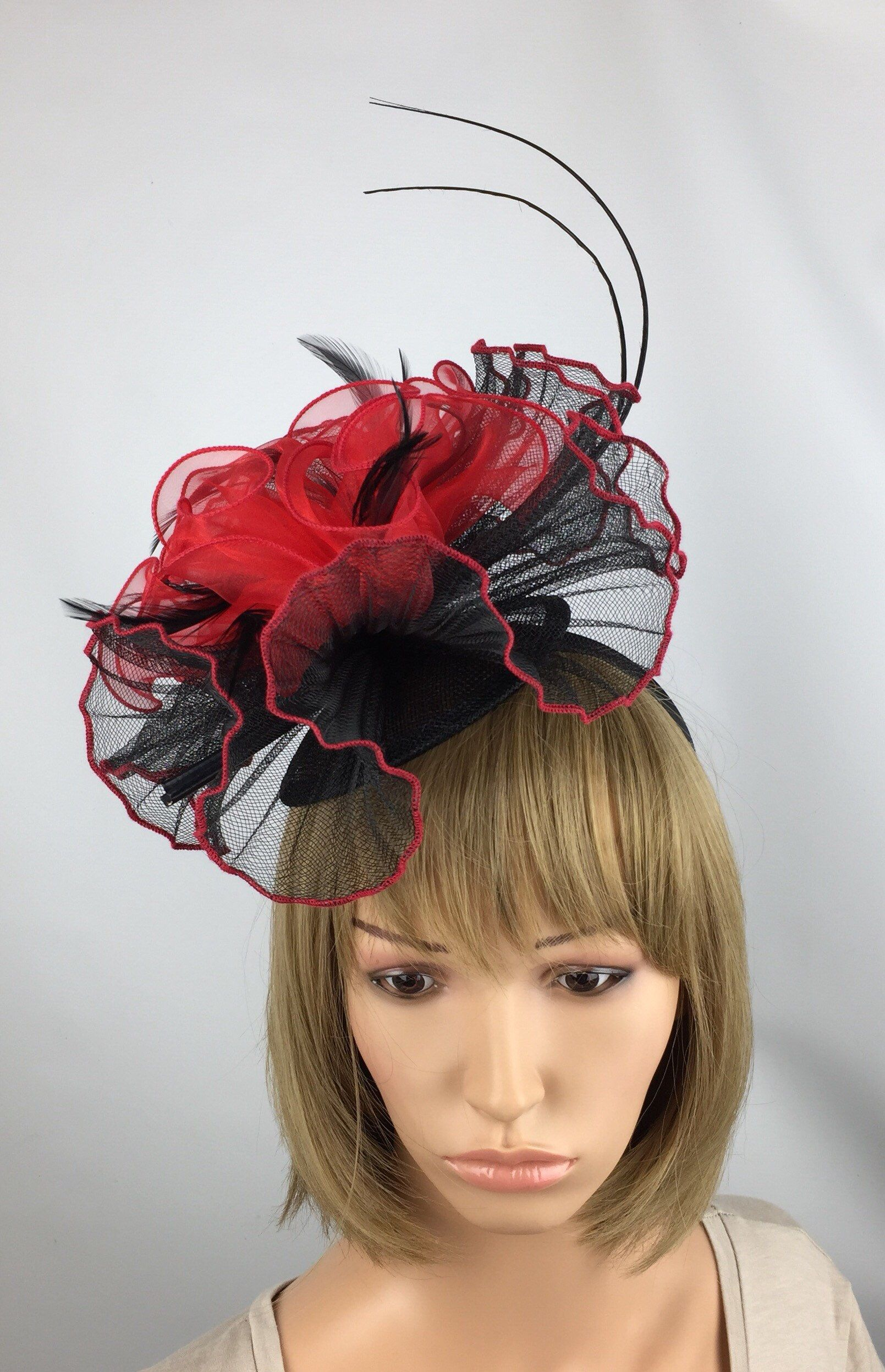 Excited to share the latest addition to my  etsy shop  Red And Black  Fascinator 3d2847ce245