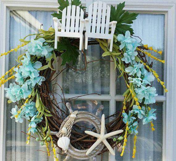 Etsy shop https://www.etsy.com/listing/233156057/summer-beach-wreath. Summer Fun