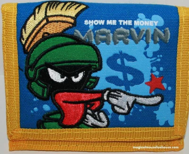 Marvin the Martian Looney Tunes Velcro Tri Fold Wallet   eBay