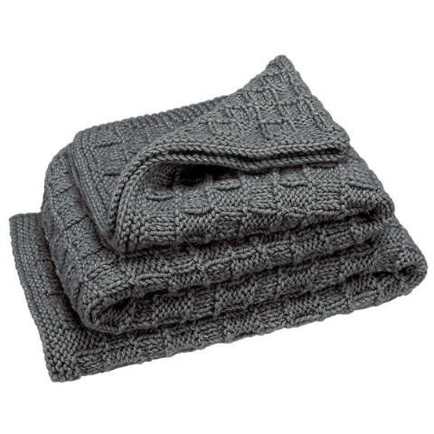 Basketweave Baby Blanket (Concrete) Knit Afghan Kit Was: $24.99                     Now: $19.99
