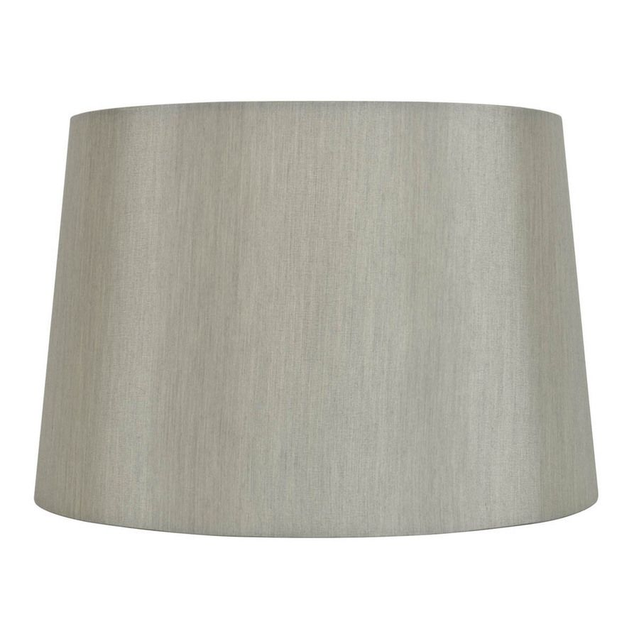 Allen Roth 9 In X 13 In Gray Fabric Drum Lamp Shade Lowes Com In 2020 Drum Lampshade Lamp Shade Grey Fabric