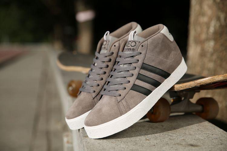 hombres Adidas Neo Bbneo ST Daily High Tops Gris Zapatos Q38627 en ...