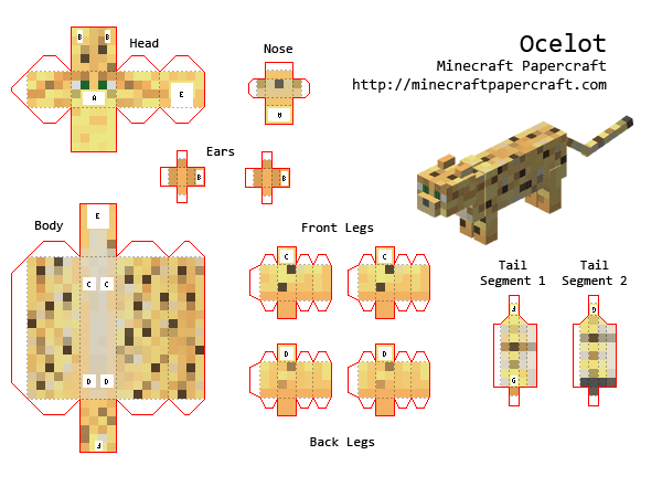 [12+] Minecraft Papercraft Online