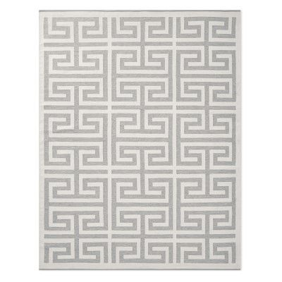 Perennials Greek Key Indoor Outdoor Rug 9x12 Gray Products