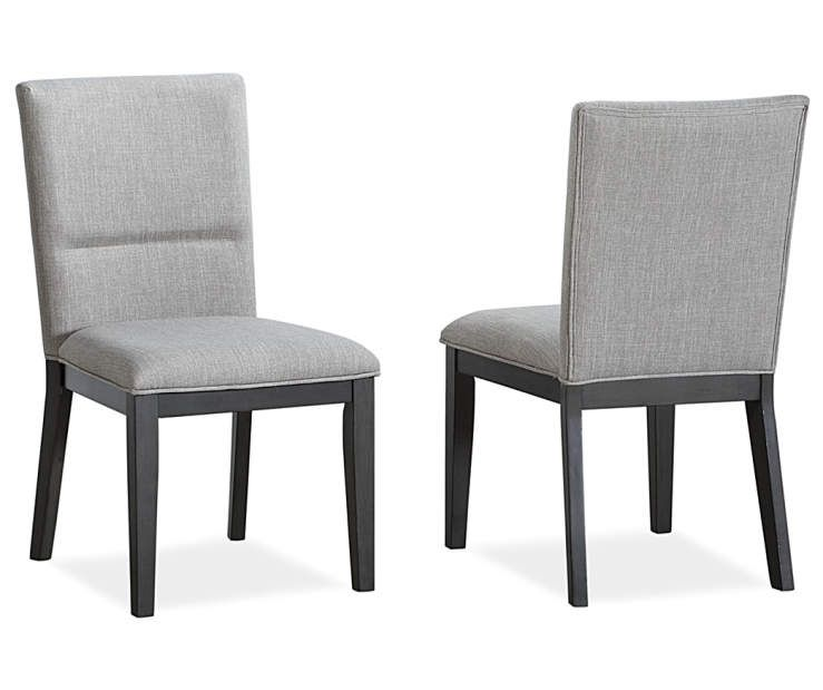 Stratford York Gray Upholstered Dining Chairs 2 Pack Dining