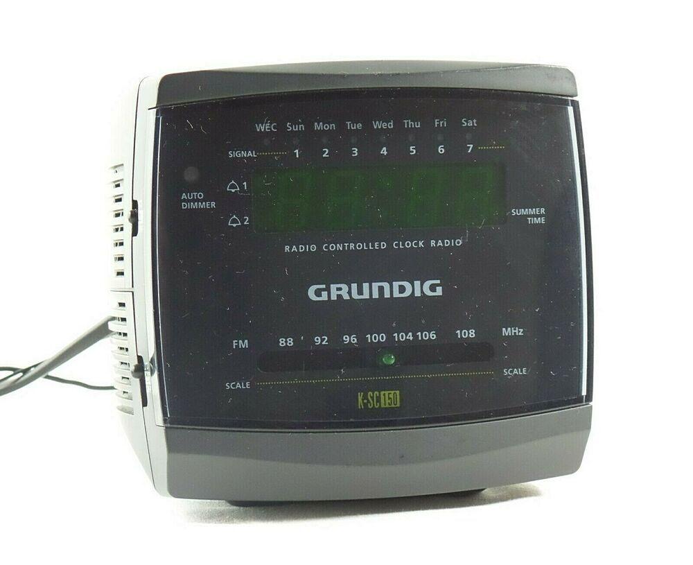 Radiowecker wecker uhr vintage Grundig KSC 150 grey