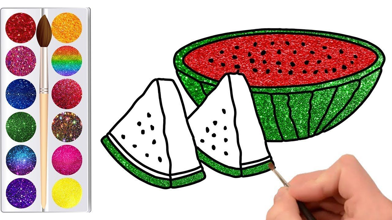 Learn how to draw watermelon and color on it. In this video, we have ...