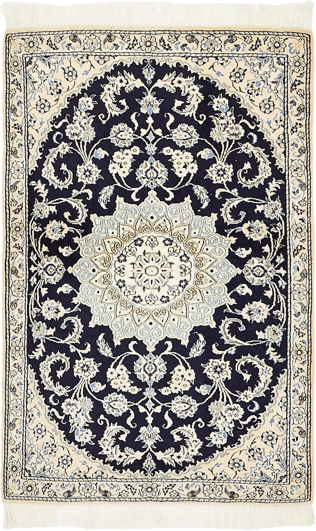Nain Navy Blue 3x5 Accent Rug In 2020 Persian Rug Rugs Persian